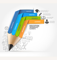 Education pencil staircase Infographics vector image