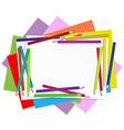 Empty papers with colourful pencils vector image vector image