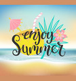 enjoy summer beach party vector image vector image