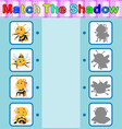 find the correct shadow of the bee vector image