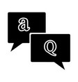 frequency ask question icon black icon color vector image