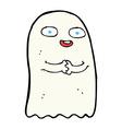 Funny comic cartoon ghost vector image