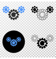 gear rotation eps icon with contour version vector image vector image