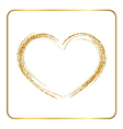 Gold heart silhouette vector image vector image