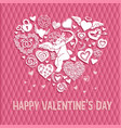 greeting card to st valentines day with a big vector image vector image