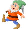 happy dwarf miner vector image vector image