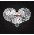 Heart as a mechanism made of cogs and gears vector image
