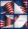 independence day of the usa background vector image vector image