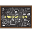 Innovation on chalkboard vector image vector image