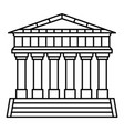 italian temple icon outline style vector image vector image