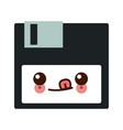 kawaii floppy disk data device storage vector image vector image