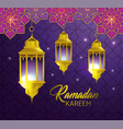 lamps hanging with geometric flowers to religion vector image