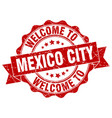 mexico city round ribbon seal vector image vector image