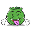 money mouth cabbage cartoon character style vector image vector image