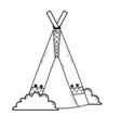 native american cartoon vector image