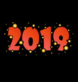 new year poster with gold circles 2019 vector image vector image