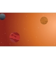 Outer space scenery on orange background vector image vector image