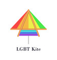 rainbow lgbt kite flat icon or logo for homosexual vector image vector image