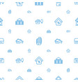residential icons pattern seamless white vector image vector image