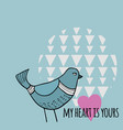 romantic with bird vector image