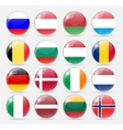 Round Flag Icon vector image