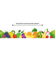 seamless border pattern with ripe and fresh vector image