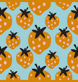 seamless strawberry pattern texture abstract berry vector image vector image