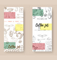 set of vertical banners with graphic design vector image vector image