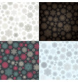 snowflake seamless pattern set eps 10 vector image