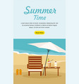 summer vacation and tourism web banner vector image vector image