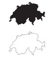 switzerland country map black silhouette vector image vector image