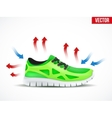 Technical of a shoes waterproof and vector image vector image