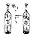 two bottles wine vector image vector image