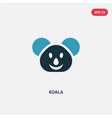 two color koala icon from animals concept vector image