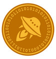 ufo start digital coin vector image vector image