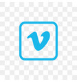 vimeo social media icon design template vector image