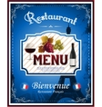 Vintage french restaurant menu and poster design vector image vector image