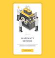 warranty service repairment mobile app screen vector image vector image