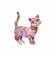 watercolor cute gray kitten isolated vector image vector image