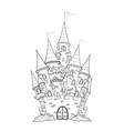 castle outline vector image