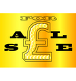 sale sign UK vector image