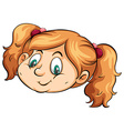 A cute face of a girl vector image