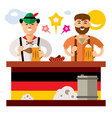 people at the beer festival in germany vector image