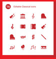 16 classical icons vector image vector image