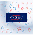 4th july silver background vector image vector image