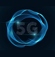 5g sign internet and wireless modem with vector image vector image