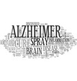 alzheimer s prevent it now text word cloud concept vector image vector image