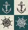 anchor wheel art vector image vector image