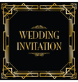 art deco gatsby wedding vector image vector image