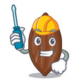 automotive fresh pecan nuts isolated on mascot vector image vector image